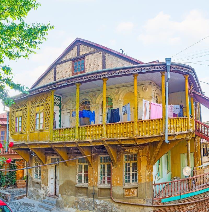 Τα εικονικά σπίτια του Tbilisi στοκ φωτογραφίες με δικαίωμα ελεύθερης χρήσης