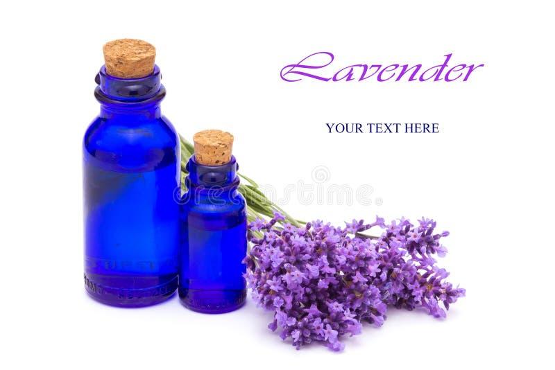 Τα εκλεκτής ποιότητας μπουκάλια και lavender τα λουλούδια στοκ εικόνα με δικαίωμα ελεύθερης χρήσης