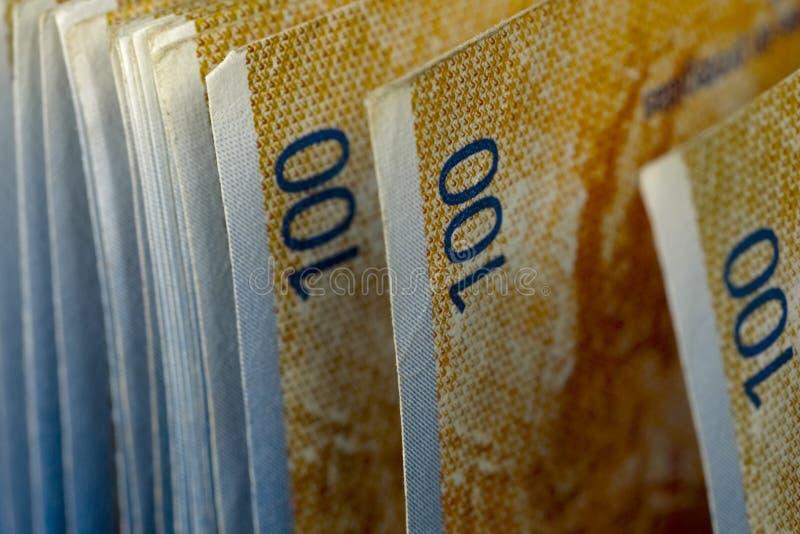 Τα ελβετικά τραπεζογραμμάτια νομίσματος στοκ εικόνα