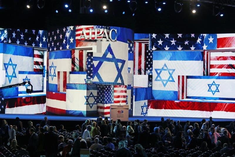 Ατμόσφαιρα στη διάσκεψη AIPAC στοκ εικόνα