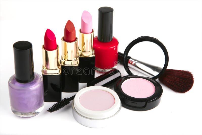 τα εξαρτήματα makeup θέτουν στοκ εικόνες