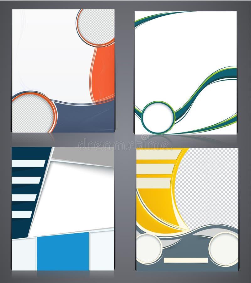 Τα επιχειρησιακά φυλλάδια σχεδιαγράμματος, το πρότυπο σχεδίου ιπτάμενων A4 στο μέγεθος, ή η κάλυψη περιοδικών, αφαιρούν τα σύγχρο διανυσματική απεικόνιση