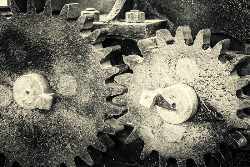 Τα εργαλεία η κινηματογράφηση σε πρώτο πλάνο ροδών ανασκόπηση βιομηχανική στοκ φωτογραφίες