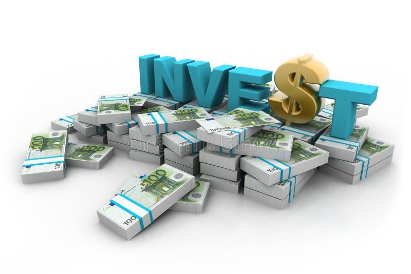 Τα ευρώ με επενδύουν και δολάριο διανυσματική απεικόνιση