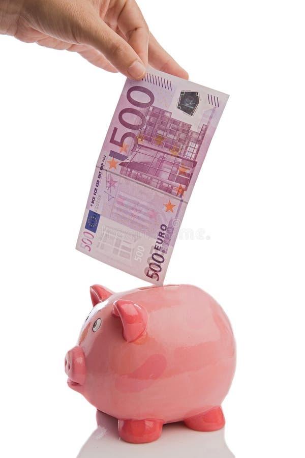 τα ευρώ πεντακόσια απαγόρ&ep στοκ εικόνες