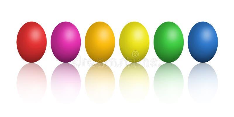 Download τα ζωηρόχρωμα αυγά Πάσχας &alpha Απεικόνιση αποθεμάτων - εικονογραφία από αυγά, πράσινος: 13187537