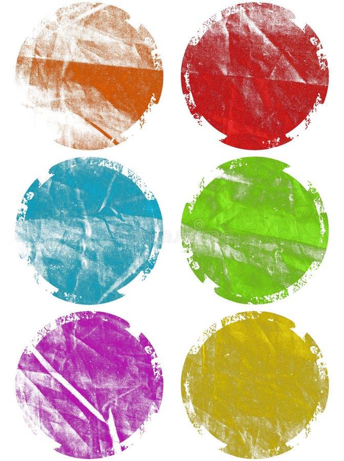 τα ζωηρόχρωμα στοιχεία grunge α στοκ εικόνα με δικαίωμα ελεύθερης χρήσης