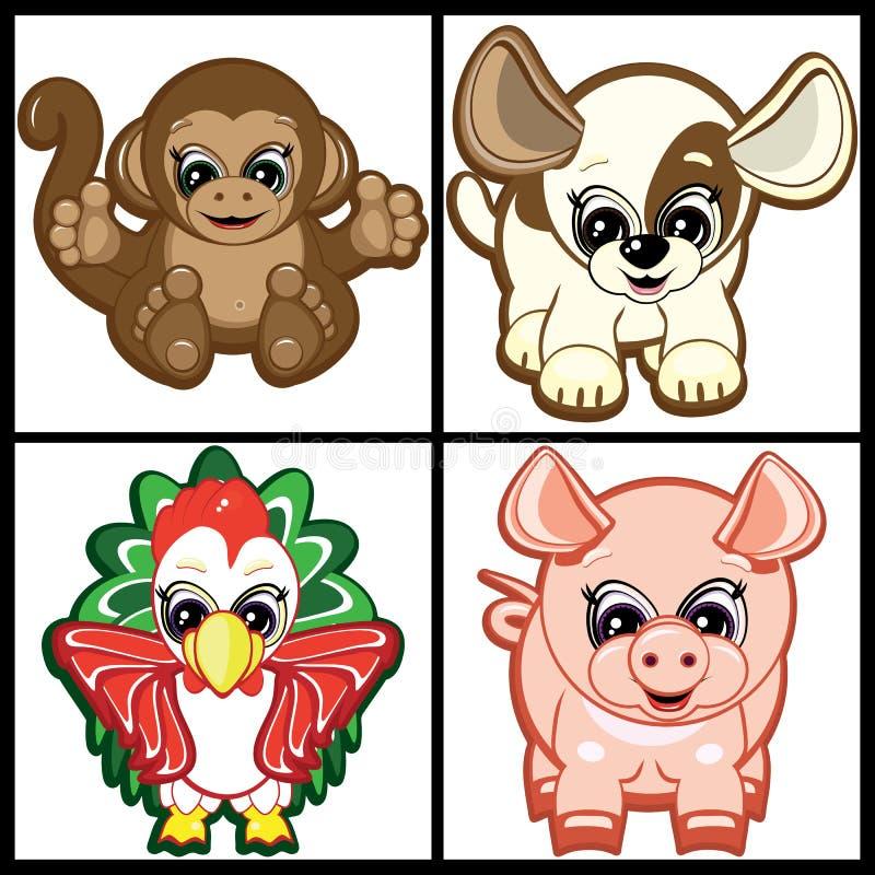 τα ζώα λίγα θέτουν απεικόνιση αποθεμάτων