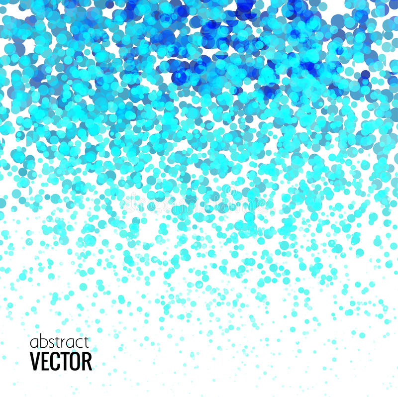Τα ημίτοά ζωηρόχρωμα μπλε φω'τα που πέφτουν διαστίζουν το σχέδιο στο άσπρο υπόβαθρο, διανυσματική απεικόνιση διανυσματική απεικόνιση