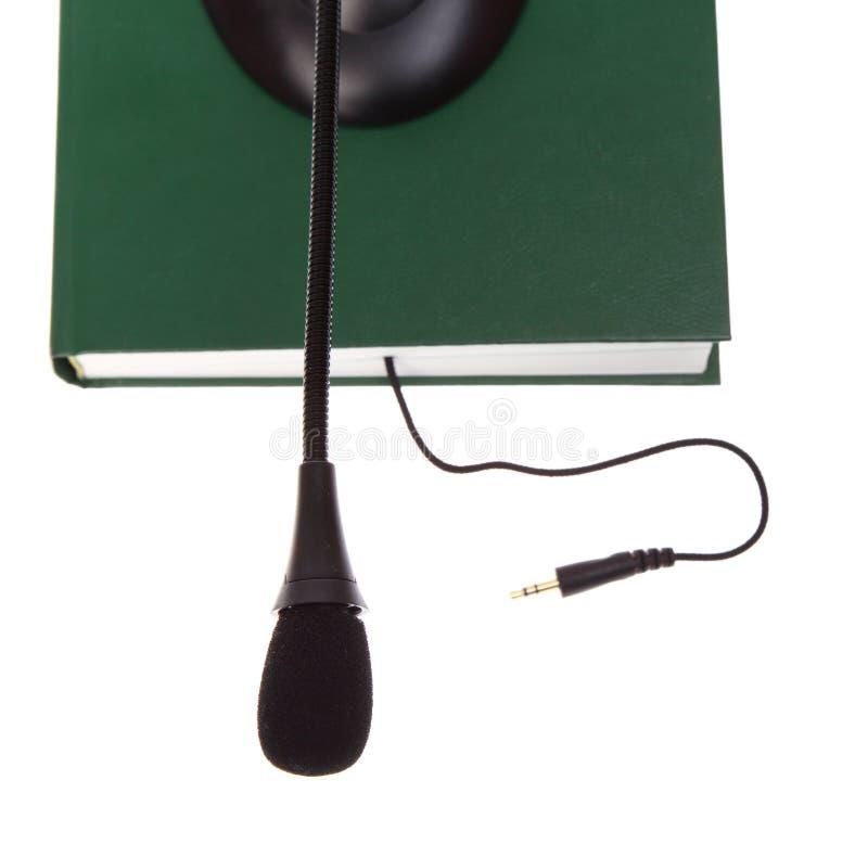 τα ηχητικά βιβλία απομόνωσαν το λευκό στοκ εικόνες