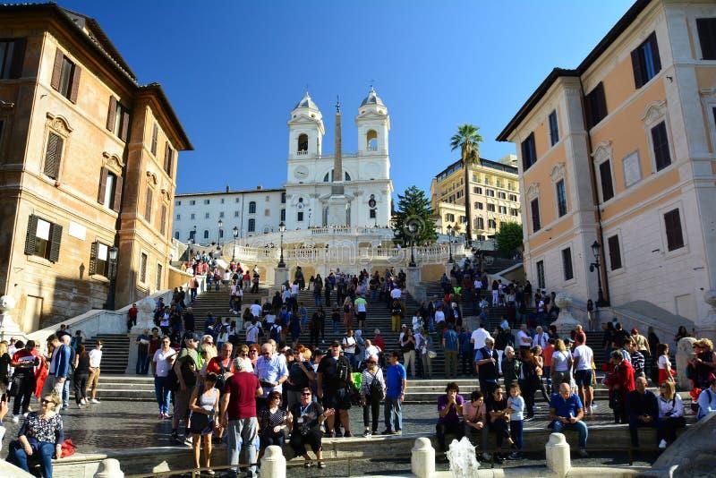 Τα ισπανικά βήματα στη Ρώμη Ιταλία στοκ φωτογραφία με δικαίωμα ελεύθερης χρήσης