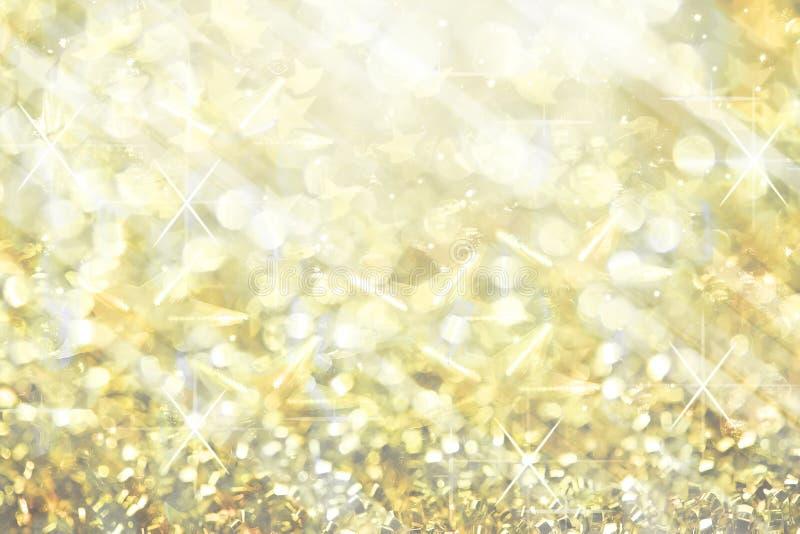 Τα κίτρινα μαλακά εορταστικά μουτζουρωμένα αφηρημένα Χριστούγεννα φω'των άστραψαν BR στοκ φωτογραφίες με δικαίωμα ελεύθερης χρήσης