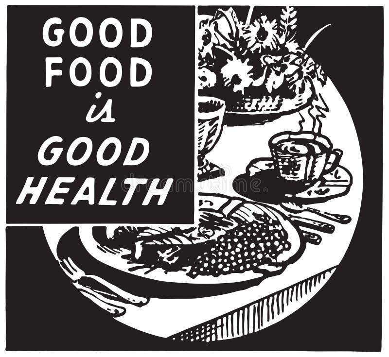Τα καλά τρόφιμα είναι καλή υγεία 2 διανυσματική απεικόνιση