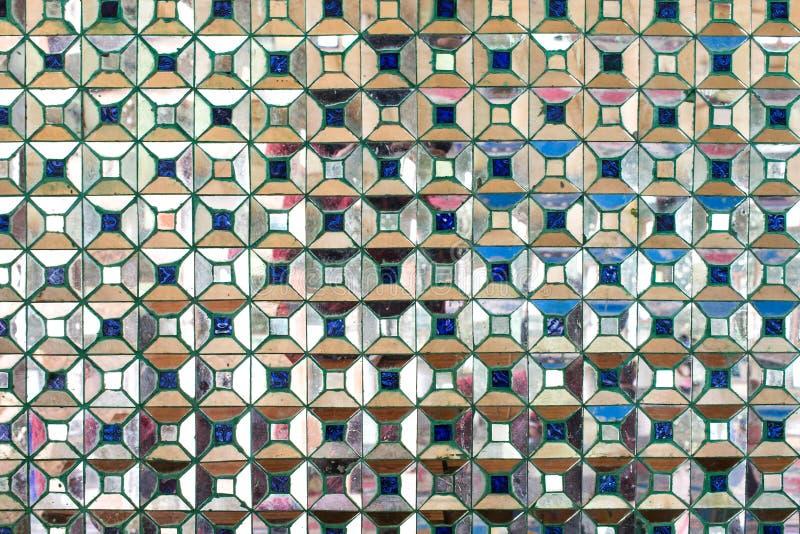 Τα κεραμίδια μωσαϊκών καθρεφτών, αφαιρούν το τετραγωνικό υπόβαθρο εικονοκυττάρου στοκ φωτογραφία με δικαίωμα ελεύθερης χρήσης