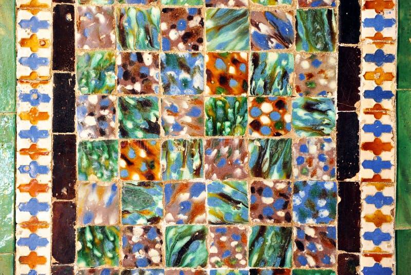 Τα κεραμίδια βερνίκωσαν τη σύνθεση, azulejos, παλάτι Casa de Pilatos, Σεβίλη, Ισπανία στοκ φωτογραφία