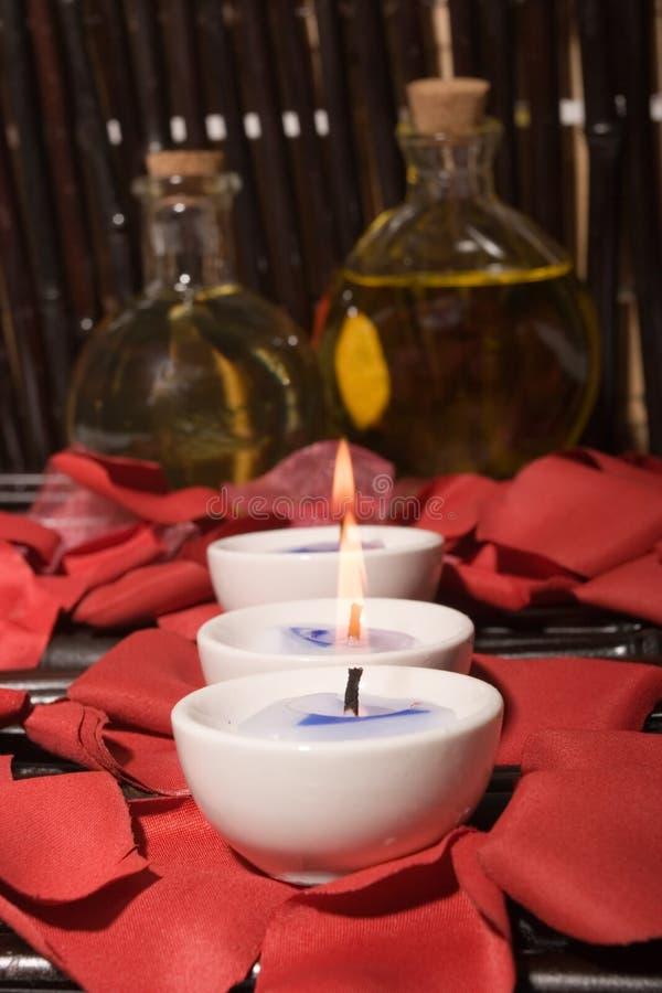 τα κεριά τρίβουν τα πετρέλ&al στοκ εικόνες