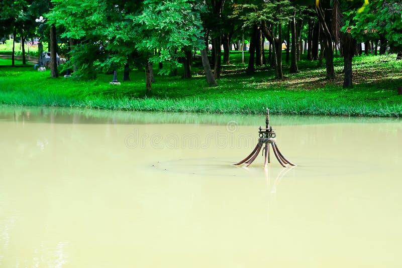 Τα κεφάλια πηγών στη λίμνη πλημμύρισαν στη διεύθυνση κατωτέρω στοκ φωτογραφίες με δικαίωμα ελεύθερης χρήσης