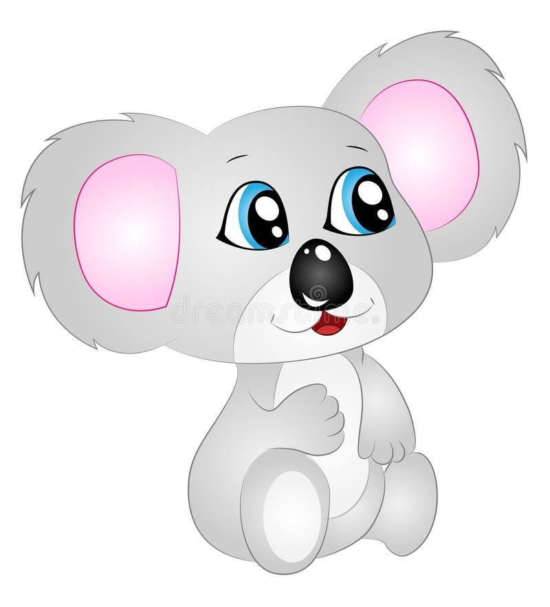 Τα κινούμενα σχέδια διανυσματικό Koala αντέχουν ελεύθερη απεικόνιση δικαιώματος