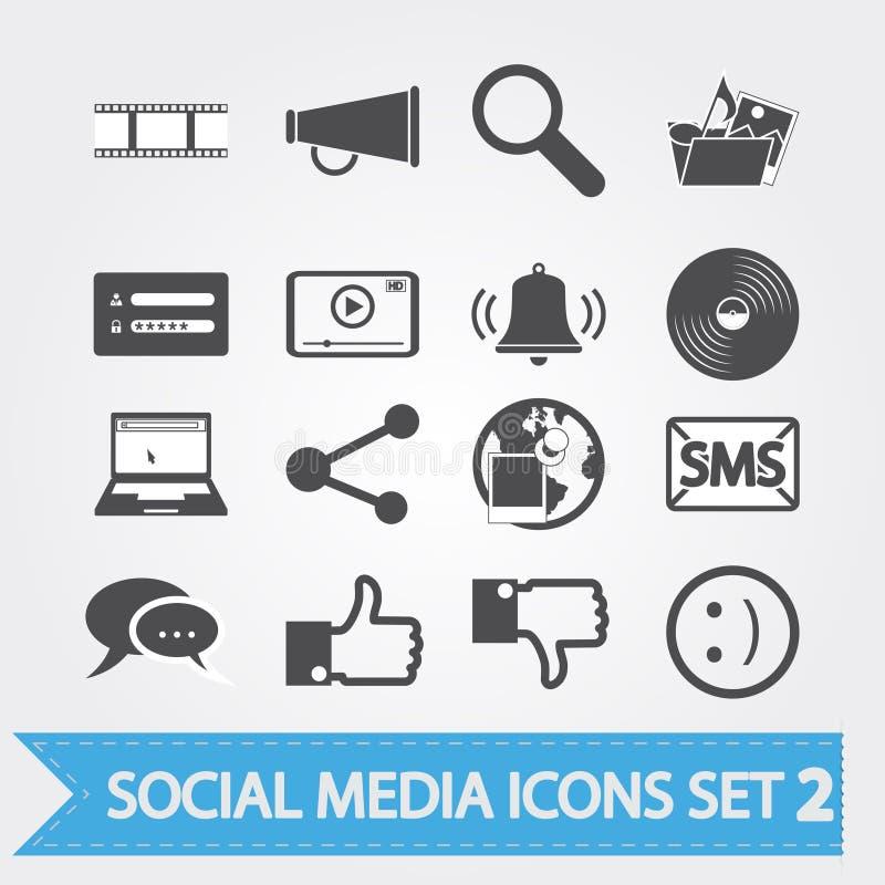 Τα κοινωνικά εικονίδια μέσων θέτουν 2 ελεύθερη απεικόνιση δικαιώματος