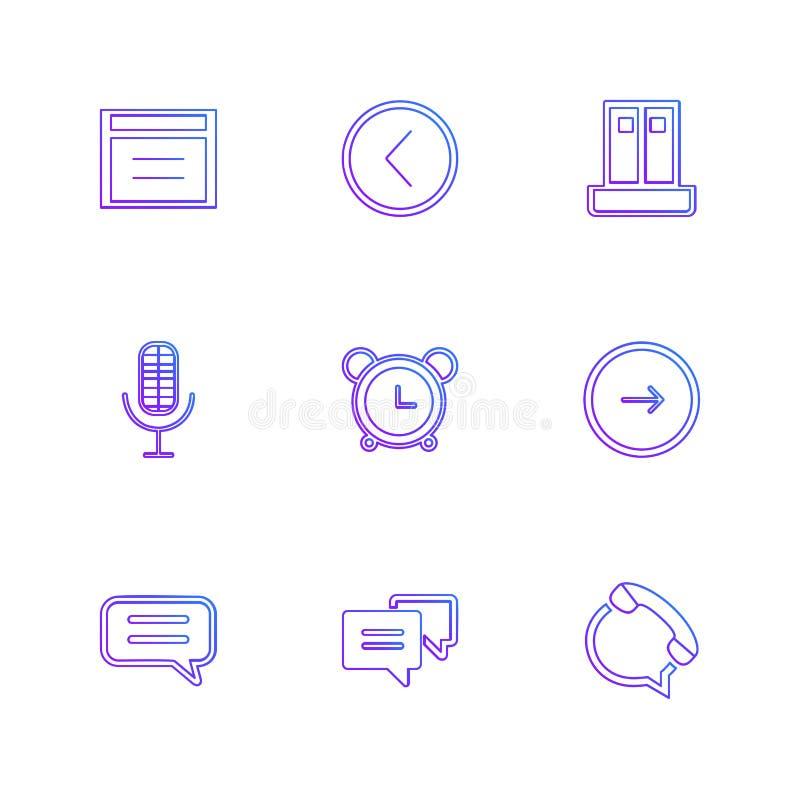 τα κοινωνικά μέσα, έξυπνο τηλέφωνο, κινητό, Διαδίκτυο, eps εικονίδια θέτουν το β διανυσματική απεικόνιση