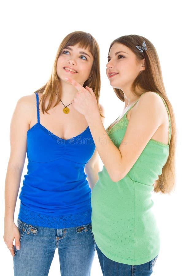 τα κορίτσια γελούν εφηβ&iota στοκ εικόνες με δικαίωμα ελεύθερης χρήσης