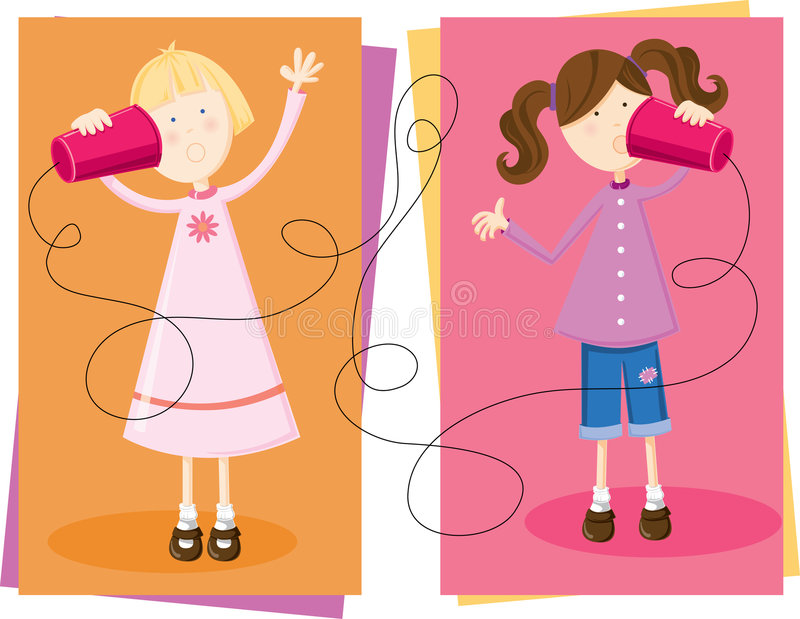 τα κορίτσια κουτσομπο&lambd ελεύθερη απεικόνιση δικαιώματος