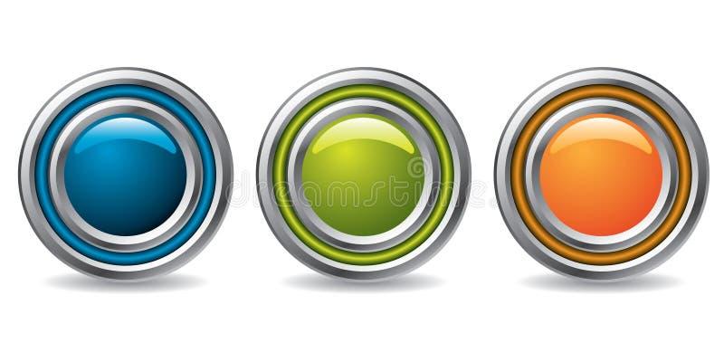 τα κουμπιά δροσίζουν τον ελεύθερη απεικόνιση δικαιώματος