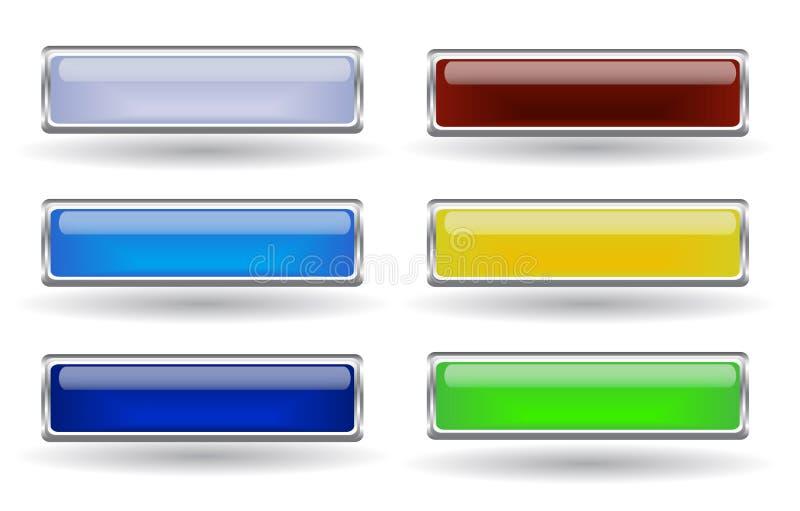 τα κουμπιά θέτουν έξι ελεύθερη απεικόνιση δικαιώματος