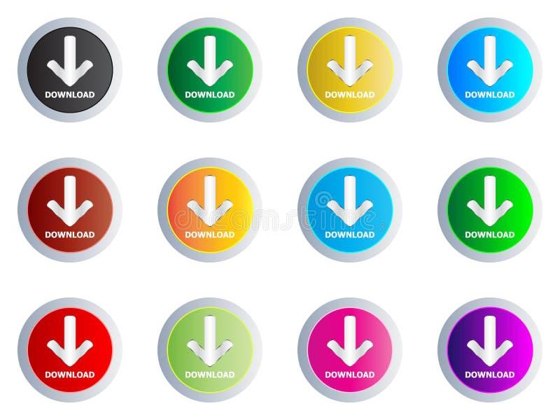 τα κουμπιά μεταφορτώνουν διανυσματική απεικόνιση