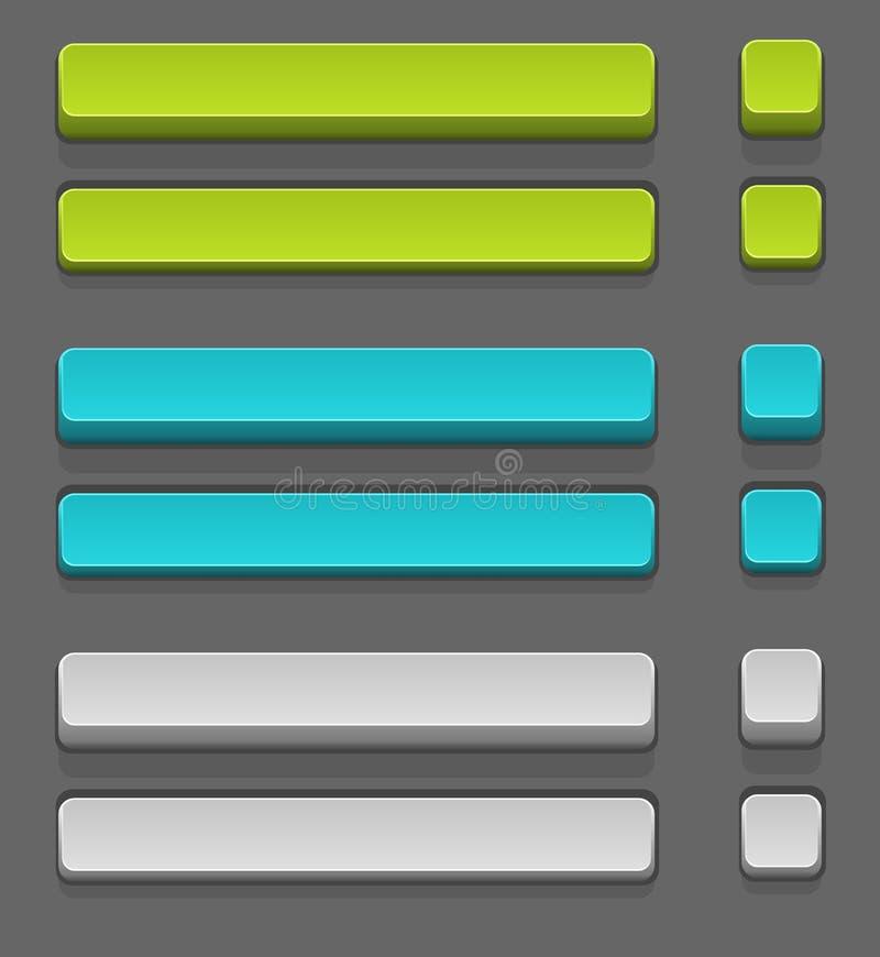 τα κουμπιά που τίθενται το απλό διάνυσμα διανυσματική απεικόνιση