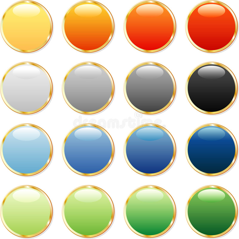 τα κουμπιά χρωματίζουν πο απεικόνιση αποθεμάτων