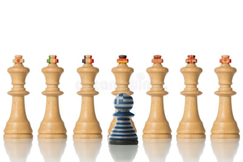 Τα κράτη και Ελλάδα της G7 συμβολικά ως ενέχυρα στοκ φωτογραφία