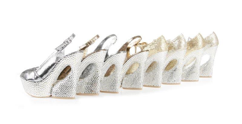 τα κρύσταλλα συλλογών τα παπούτσια πλατφορμών στοκ εικόνες με δικαίωμα ελεύθερης χρήσης