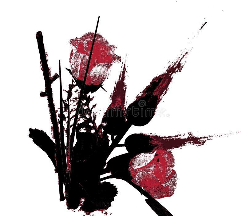 Τα κόκκινα τριαντάφυλλα συμβολίζουν την εμπαθή αγάπη ελεύθερη απεικόνιση δικαιώματος