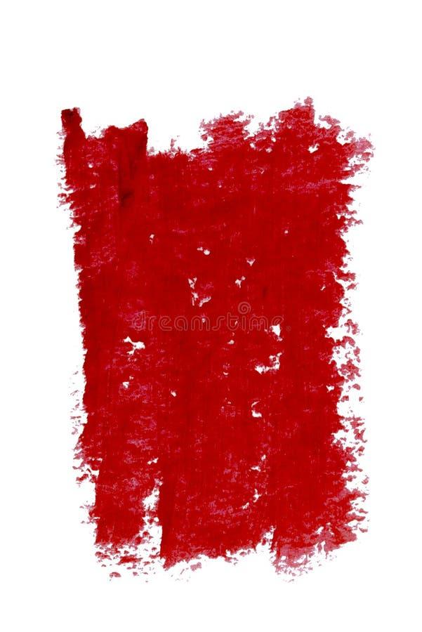 Τα κόκκινα χείλια περιγράφουν το καλλυντικό δείγμα κτυπήματος χρώματος μολυβιών, προϊόν ομορφιάς που απομονώνεται στο άσπρο υπόβα στοκ εικόνες με δικαίωμα ελεύθερης χρήσης