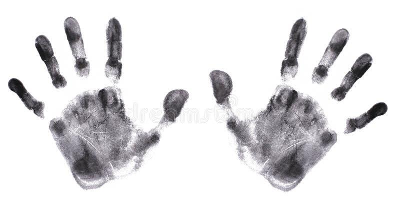 τα λεπτομερή χέρια τυπώνουν πολύ στοκ εικόνες