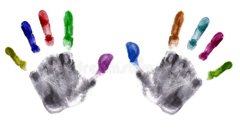 τα λεπτομερή χέρια τυπώνουν πολύ στοκ φωτογραφία με δικαίωμα ελεύθερης χρήσης