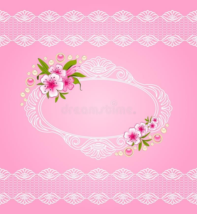 τα λουλούδια δένουν τις διακοσμήσεις ελεύθερη απεικόνιση δικαιώματος