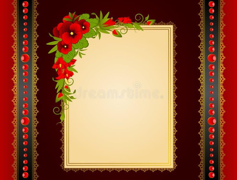 τα λουλούδια δένουν τι&sigm διανυσματική απεικόνιση