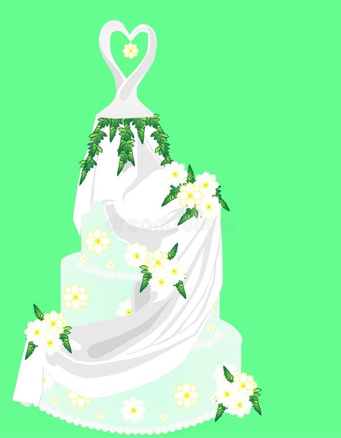 τα λουλούδια κέικ αγαπ&omic διανυσματική απεικόνιση
