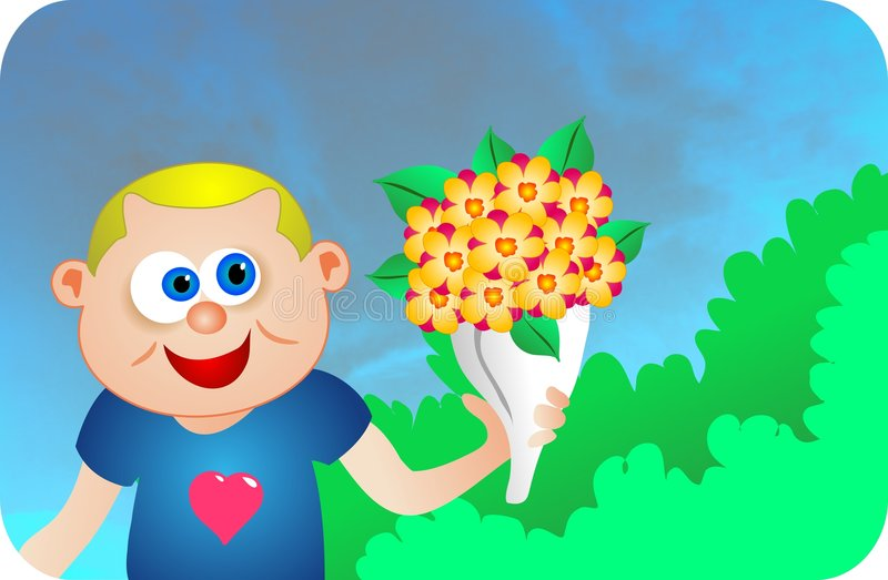 τα λουλούδια λένε απεικόνιση αποθεμάτων