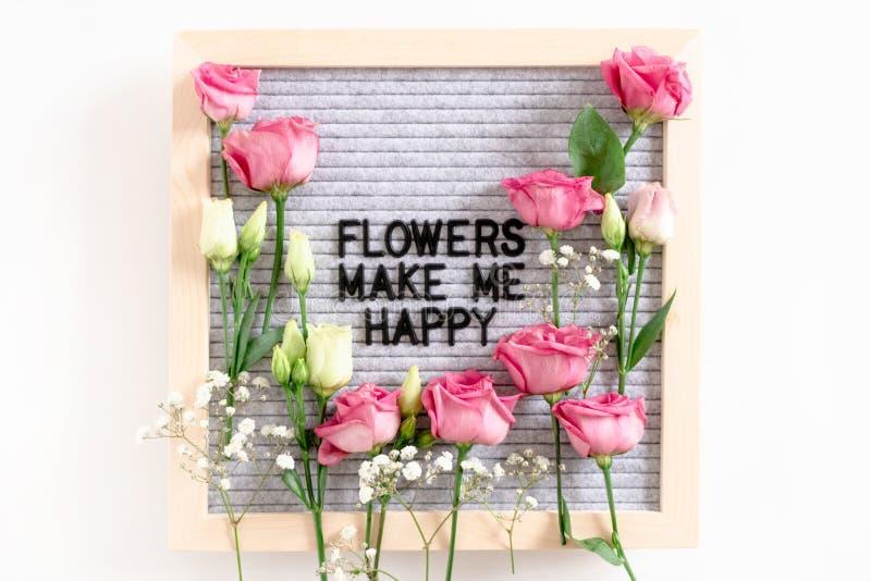 Τα λουλούδια με κάνουν ευτυχησμένο στοκ φωτογραφίες με δικαίωμα ελεύθερης χρήσης