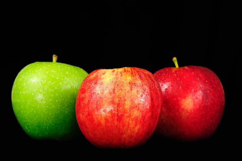τα μήλα χρωματίζουν ζωηρό στοκ φωτογραφία