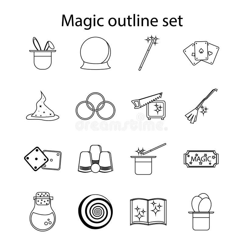 Τα μαγικά εικονίδια καθορισμένα, περιγράφουν το ύφος ελεύθερη απεικόνιση δικαιώματος