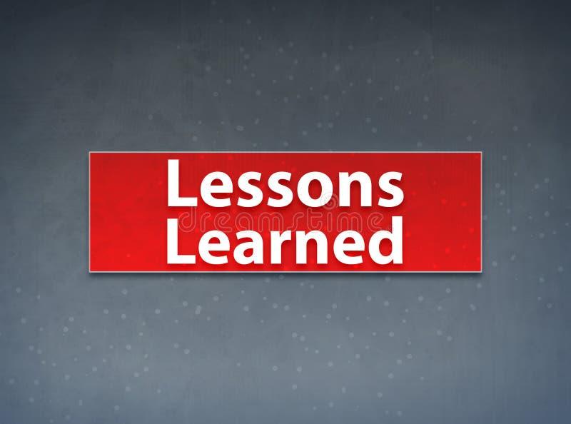 Τα μαθήματα έμαθαν το κόκκινο αφηρημένο υπόβαθρο εμβλημάτων απεικόνιση αποθεμάτων
