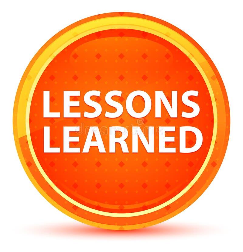 Τα μαθήματα έμαθαν το φυσικό πορτοκαλί στρογγυλό κουμπί απεικόνιση αποθεμάτων