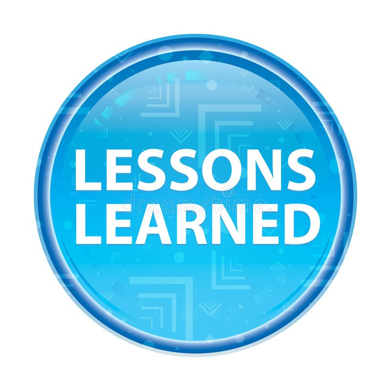 Τα μαθήματα έμαθαν το floral μπλε στρογγυλό κουμπί ελεύθερη απεικόνιση δικαιώματος