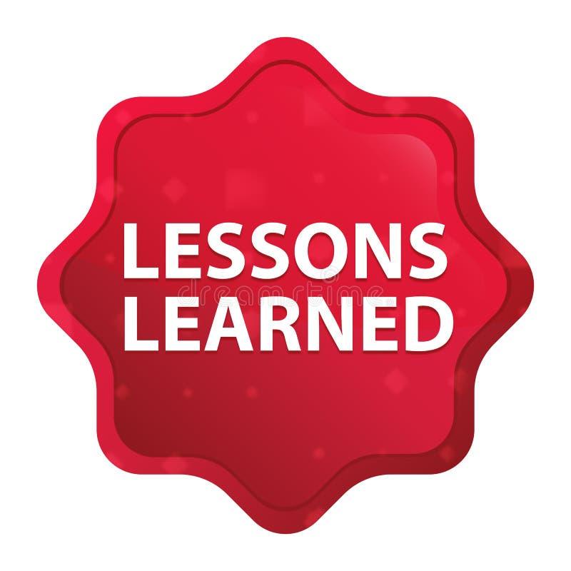 Τα μαθήματα έμαθαν το misty ροζ κουμπί αυτοκόλλητων ετικεττών starburst διανυσματική απεικόνιση
