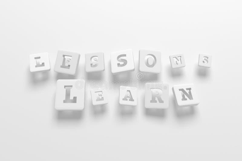 Τα μαθήματα μαθαίνουν, μαθαίνοντας τη λέξη κλειδί Για ιστοσελίδας, το γραφικό σχέδιο, τη σύσταση ή το υπόβαθρο διανυσματική απεικόνιση