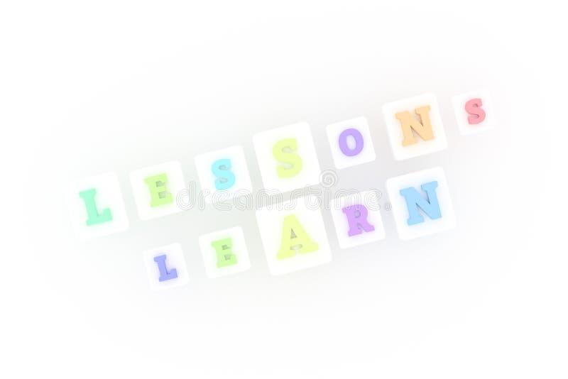 Τα μαθήματα μαθαίνουν, μαθαίνοντας τη λέξη κλειδί Για ιστοσελίδας, το γραφικό σχέδιο, τη σύσταση ή το υπόβαθρο ελεύθερη απεικόνιση δικαιώματος